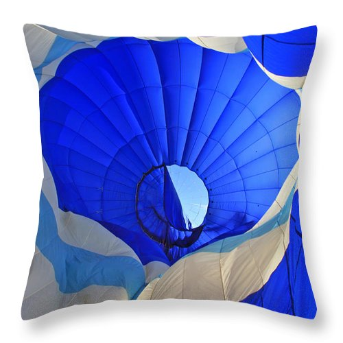 Balloon Throw Pillow featuring the photograph Into The Blue by Scott Mahon