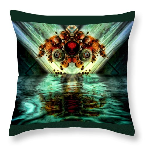Alien Throw Pillow featuring the digital art Invasion by Adam Vance