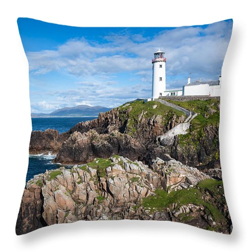 Lighthouse Throw Pillow featuring the photograph Irish Lighthouse by Andrew Michael