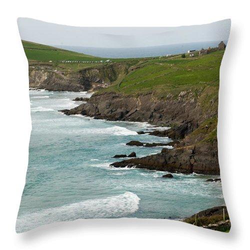 Throw Pillow featuring the photograph Irish Sea Coast 2 by Douglas Barnett