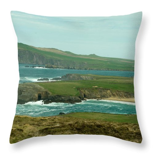 Throw Pillow featuring the photograph Irish Sea Coast 3 by Douglas Barnett