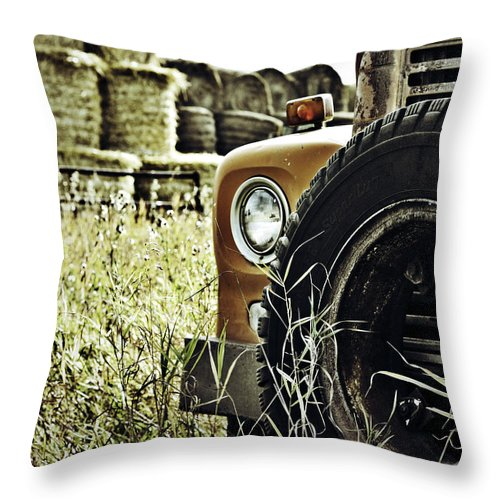 Street Photography Photographs Framed Prints Photographs Framed Prints Throw Pillow featuring the photograph Iron Horse by The Artist Project