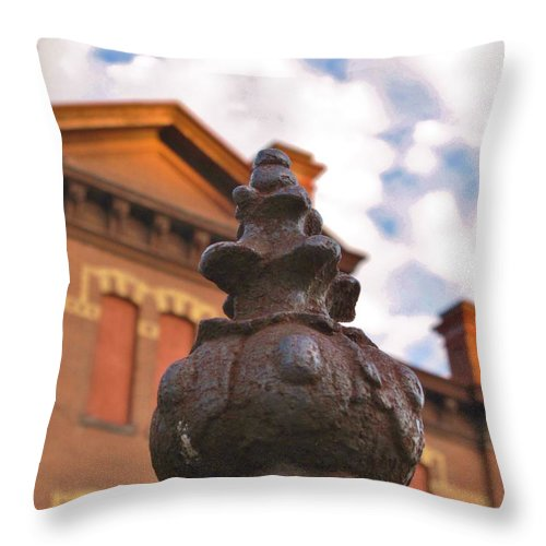 Old School House Throw Pillow featuring the photograph Iron No More by Michele Nelson