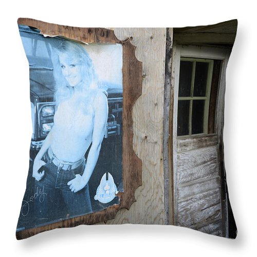 Poster Throw Pillow featuring the photograph Is Jody Home by Bob Christopher