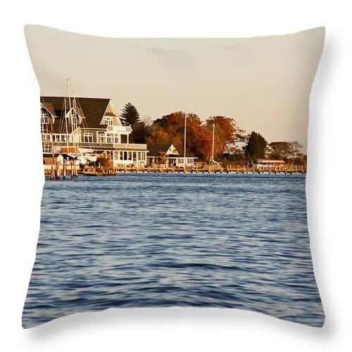 Jersey Shore Throw Pillow featuring the photograph Island Heights by Ann Murphy