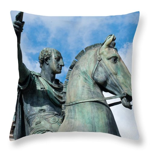 Italian Throw Pillow featuring the photograph Italian Bronze by Andrew Michael
