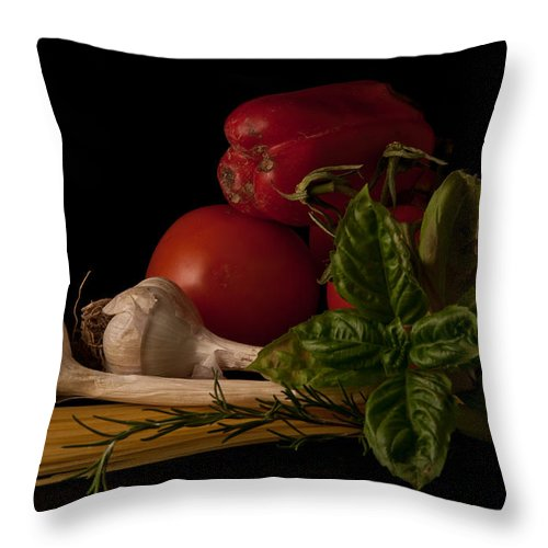 Still Life Throw Pillow featuring the photograph Italian Palate Number 2 by Constance Sanders