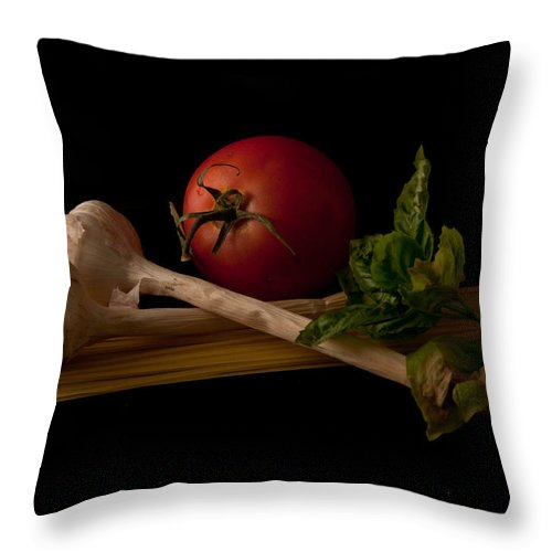 Still Life Throw Pillow featuring the photograph Italian Palate Number 3 by Constance Sanders