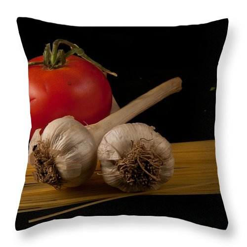 Still Life Throw Pillow featuring the photograph Italian Palate Number 5 by Constance Sanders