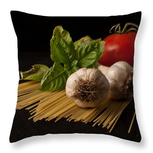 Still Life Throw Pillow featuring the photograph Italian Palate Number 6 by Constance Sanders