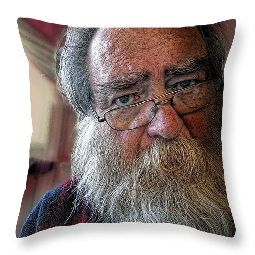 Acrylic Prints Throw Pillow featuring the photograph It's Never Nice To Be Me by John Herzog