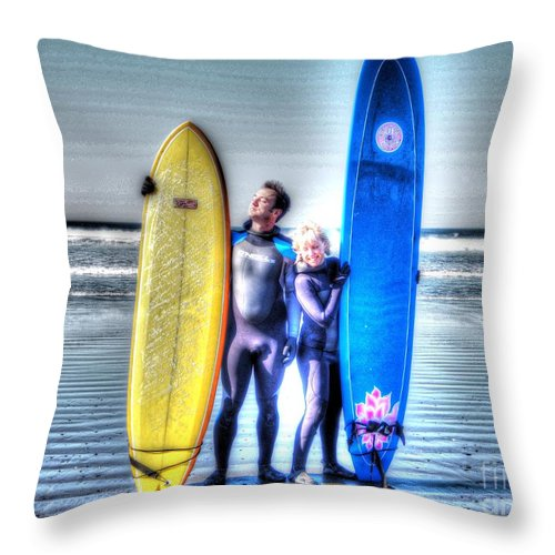 Surf Throw Pillow featuring the photograph It's Not A Dream by Jacklyn Duryea Fraizer