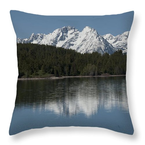 Bronstein Throw Pillow featuring the photograph Jackson Lake by Sandra Bronstein