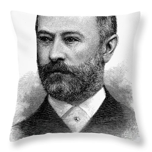1891 Throw Pillow featuring the photograph Jacob Henry Schiff by Granger