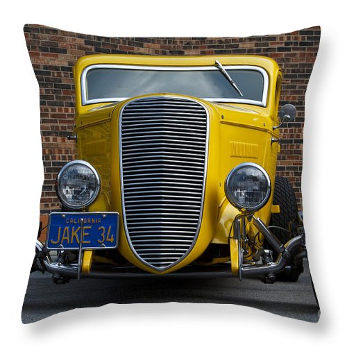 Pete And Jake's Throw Pillow featuring the photograph Jake's '34 by Dennis Hedberg