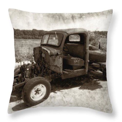 Automobile Throw Pillow featuring the photograph Jalopy by Julie Niemela