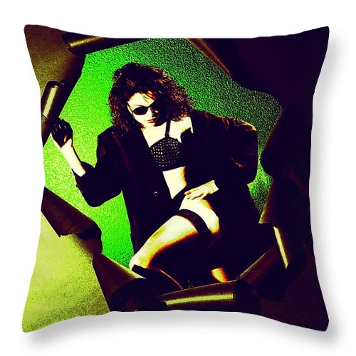 Model Throw Pillow featuring the photograph Jane Joker 3 by Gary Gingrich Galleries