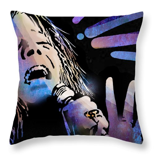 Blues Throw Pillow featuring the painting Janis by Paul Sachtleben