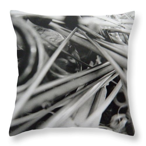 Jar Throw Pillow featuring the photograph Jar O Crafts 3 by M Brandl