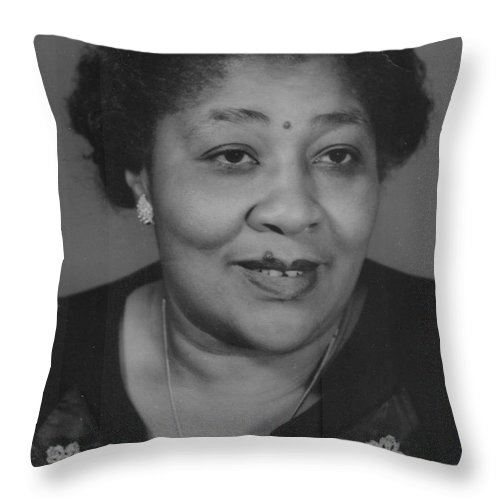 Throw Pillow featuring the photograph Javonia Lester Daughter Of Robert Lester by Angela L Walker