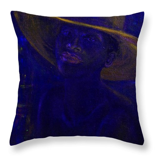 Woman Throw Pillow featuring the painting Jazz Mood by Xueling Zou