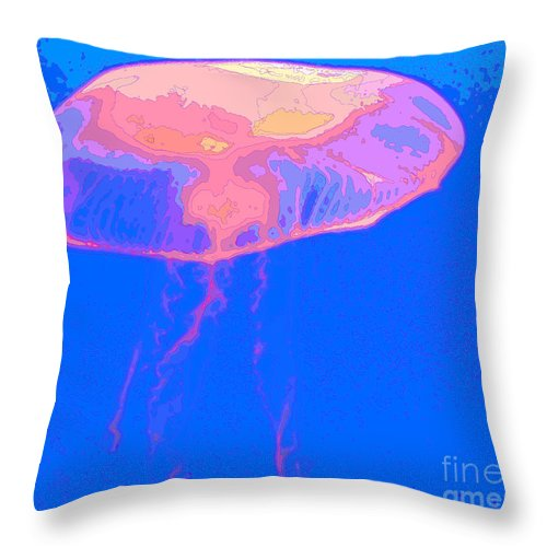 Jellyfish Throw Pillow featuring the photograph Jazzy Jelly by Al Powell Photography USA