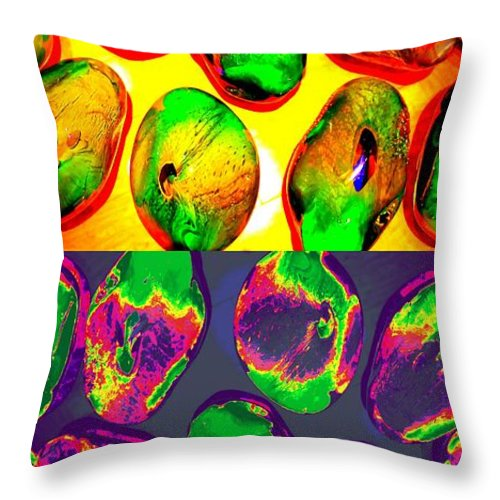 Jewels Throw Pillow featuring the digital art Jelly Bean Jewels 1 by Randall Weidner