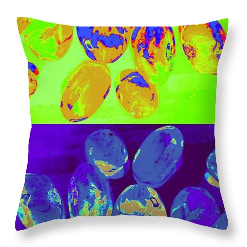 Jewels Throw Pillow featuring the digital art Jelly Bean Jewels 3 by Randall Weidner