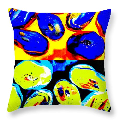 Jewels Throw Pillow featuring the digital art Jelly Bean Jewels 4 by Randall Weidner