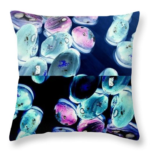 Jelly Bean Throw Pillow featuring the digital art Jelly Bean Jewels 6 by Randall Weidner