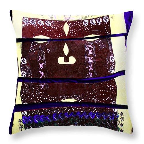 Jesus Christ Throw Pillow featuring the ceramic art Jesus - Yesu by Gloria Ssali