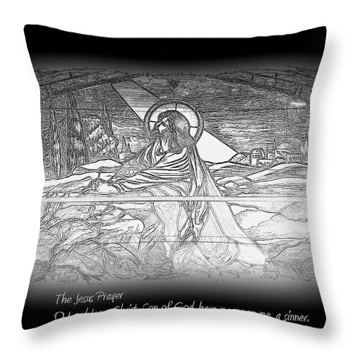 Jesus Prayer Throw Pillow featuring the photograph Jesus Prayer by Travis Truelove