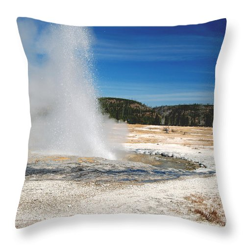 Geyser Throw Pillow featuring the photograph Jewel Geyser 9507 by Michael Peychich