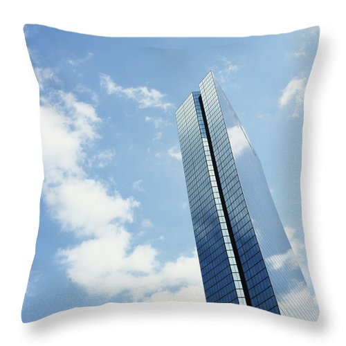 Windows Throw Pillow featuring the photograph John Hancock Tower, Copley Square by Axiom Photographic