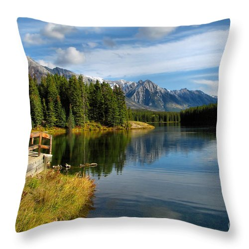 Johnson Lake Throw Pillow featuring the photograph Johnson Lake by James Anderson