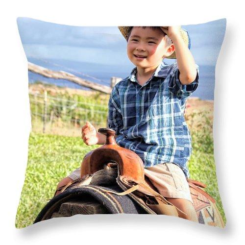Boy Throw Pillow featuring the photograph Jonah And Elijah 3 by Dawn Eshelman