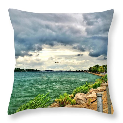 Throw Pillow featuring the photograph Journey Back From The Bridge by Michael Frank Jr