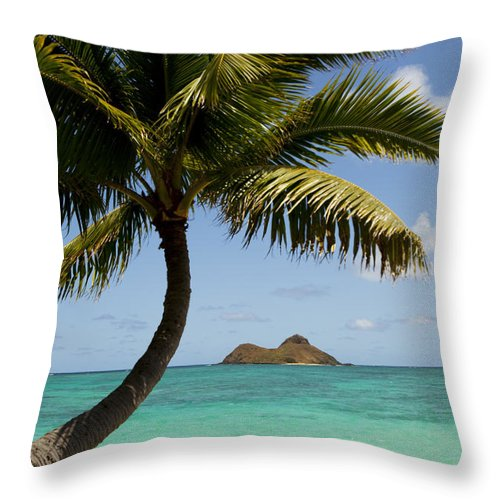 Activity Throw Pillow featuring the photograph Journey To Mokulua II by Dana Edmunds - Printscapes