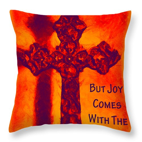 Psalm 30:5 Throw Pillow featuring the photograph Joy Comes by Angelina Vick