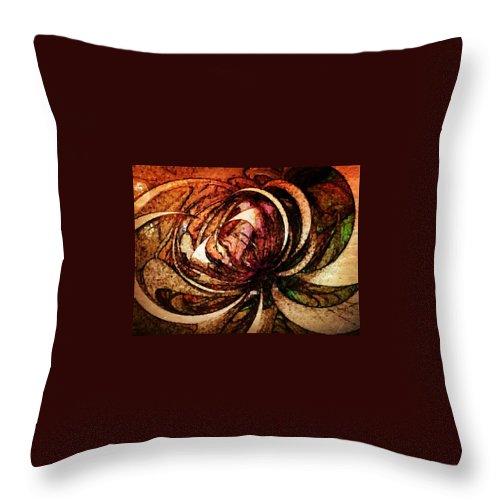 Digital Art Throw Pillow featuring the digital art Joy In Sepia by Amanda Moore