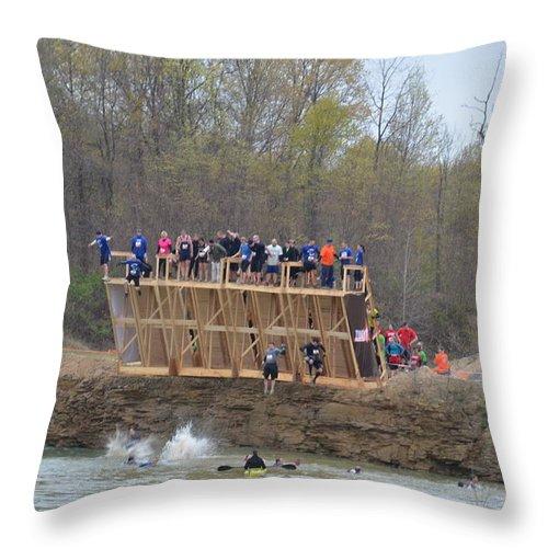 Tough Throw Pillow featuring the photograph Jump  Jump by Randy J Heath