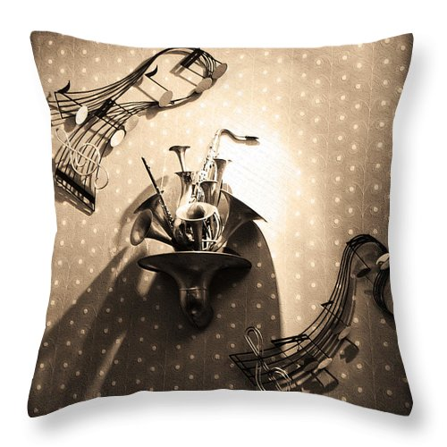 Jumpin Jive Throw Pillow featuring the photograph Jumpin Jive by Bill Cannon