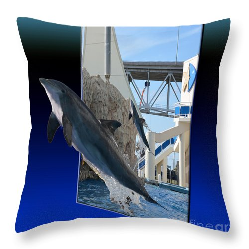 Manual Throw Pillow featuring the photograph Jumping For You by Donna Brown