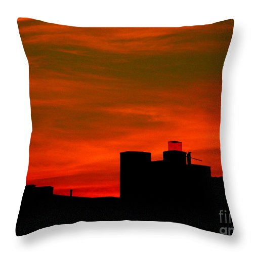 Sunset Throw Pillow featuring the photograph June 2 2009 by Mark Gilman