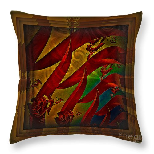 Abstract Throw Pillow featuring the digital art Jungle Book by Leslie Revels