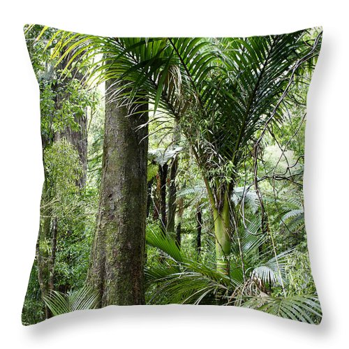 Trees Throw Pillow featuring the photograph Jungle by Les Cunliffe