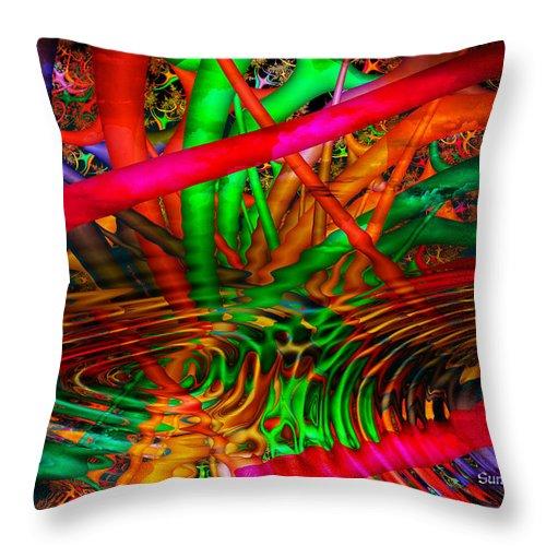 Water Throw Pillow featuring the digital art Jungle Love by Robert Orinski