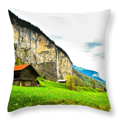 Landscape Throw Pillow featuring the photograph Just A Dream by Syed Aqueel