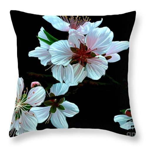 Fine Art Throw Pillow featuring the painting Just Peachy by Patricia Griffin Brett