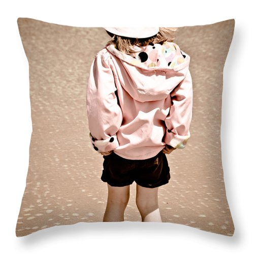 Girl Sand Throw Pillow featuring the photograph Justin Bieber's Girl by Trish Tritz